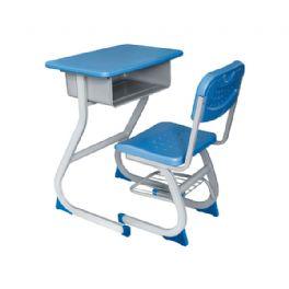 中空吹塑固定课桌椅WT-15-1011