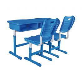 套管升降双人课桌椅WT-19-1012