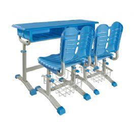 旋钮升降双人课桌椅WT-19-1013