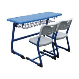 弯管C型双人课桌椅WT-19-1015