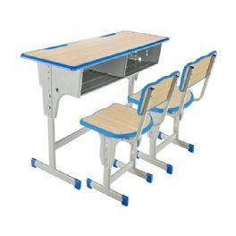 双人单柱升降课桌椅WT-19-1024