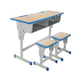 双人单柱升降课桌凳WT-19-1026