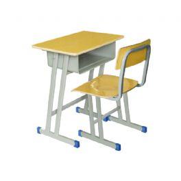 斜双柱课桌椅WT-1019