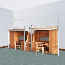 68×68异形钢管卡式公寓床WT-18-5001