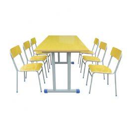 六人阅读桌WT-4007