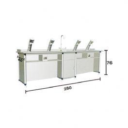 铝木结构化学通风隐藏式实验桌WT-HX207