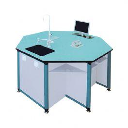 铝木结构八角桌WT-LL401