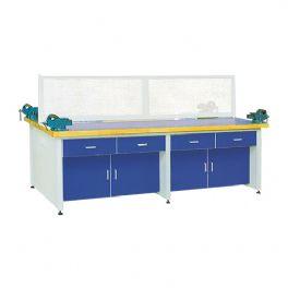 铝木结构劳技桌实木桌面WT-LL407