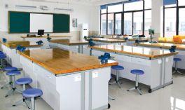钢木结构劳技桌实木桌面WT-TY002