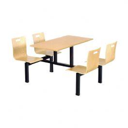 四位曲木靠背餐桌WT-13-6003