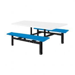 六位玻璃钢条形餐桌WT-13-6007