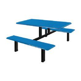 四位玻璃钢条形餐桌WT-13-6004