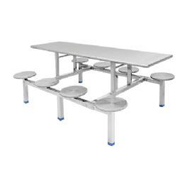 八位不锈钢圆盘餐桌WT-13-6025