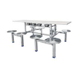 八位圆盘不锈钢餐桌WT-15-6023