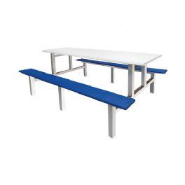 八位不锈钢条形餐桌WT-15-6026