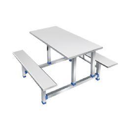 四位不锈钢条形餐桌WT-19-6002