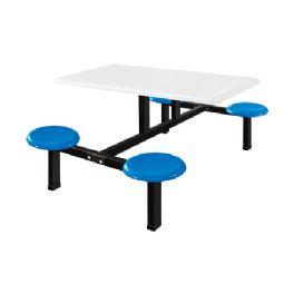 四位玻璃钢圆盘餐桌WT-19-6001