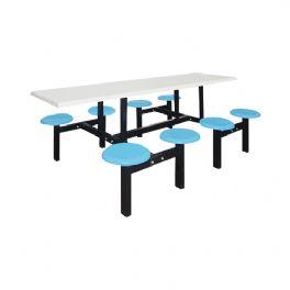 八位玻璃钢圆盘餐桌WT-6016