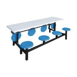 八位玻璃钢翻转餐桌WT-6017