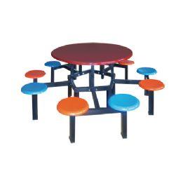 十位圆盘玻璃钢圆桌WT-6018